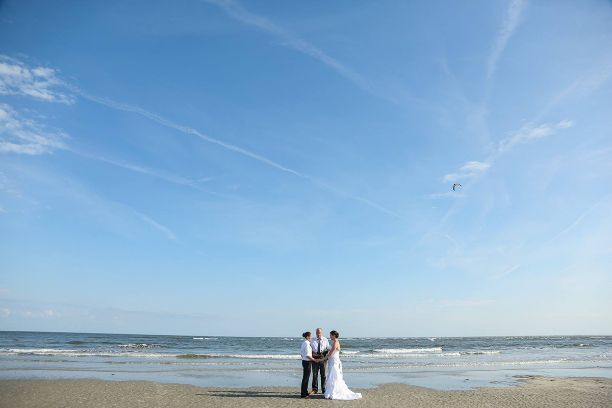 Gorgeous View of elopement on Tybee Island - LGBT Elope to Savannah