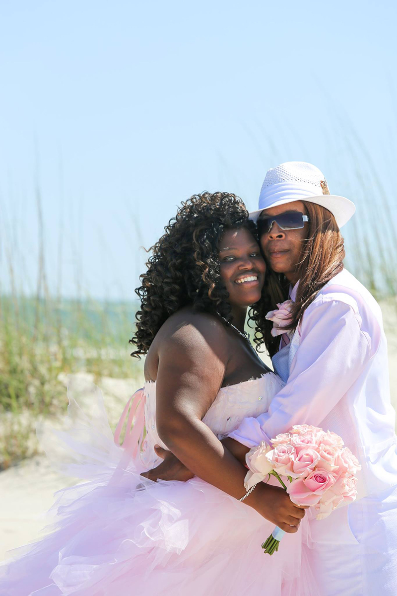 Super fun couple on Tybee Island - Elope to Savannah - wedding clothing ideas