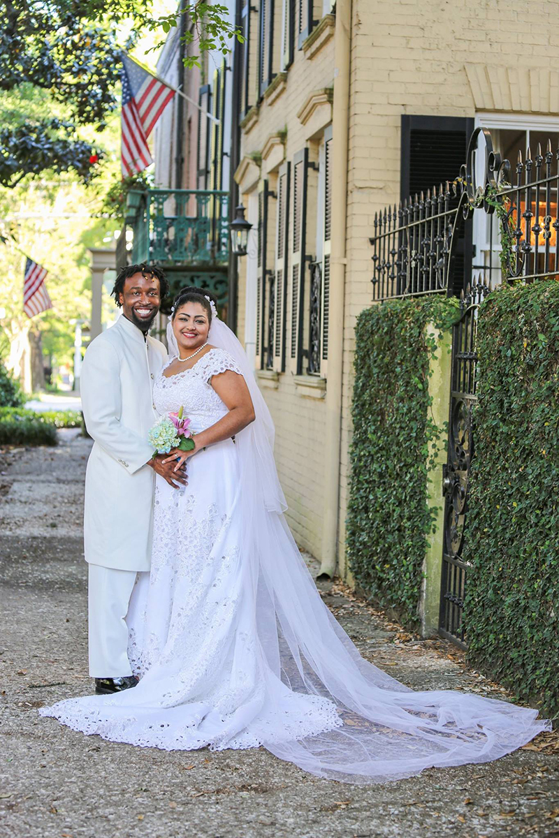 Elopement near Troup Square Savannah GA - destination Elopement